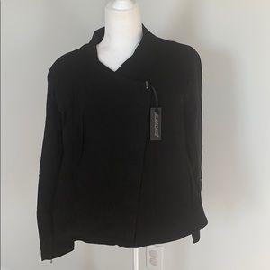 Blank NYC Mesh Detail Crepe Jacket